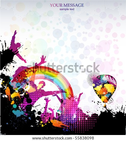 Template background for party in grunge style. Vector