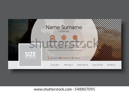 template banner for social