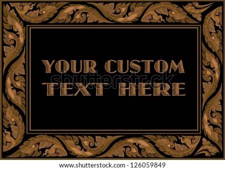 Template:  Beautiful Thai Fine Art vector template