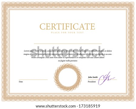 Template border diplomas certificate and currency Vector illustration