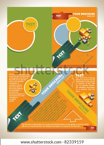 template brochure with business - stock vector