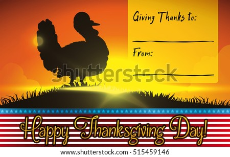template card to give thanks