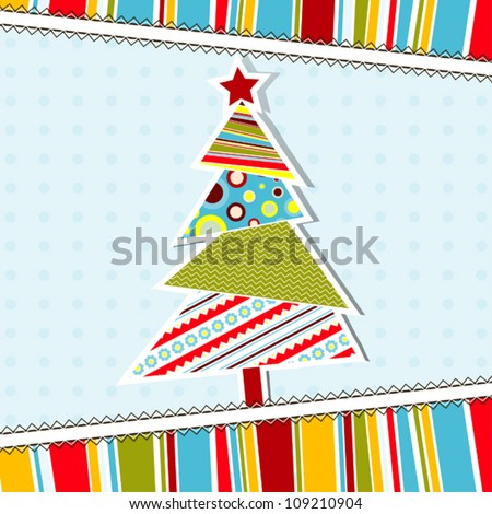 Template christmas greeting card vector illustration