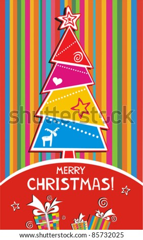 Template christmas greeting card, vector illustration,