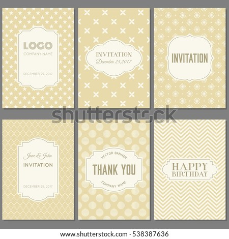 template collection in vintage...
