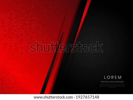 Template corporate banner concept red and black contrast background. You can use for ad, poster, template, business presentation. Vector illustration