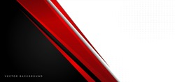 Template corporate banner concept red black grey and white contrast background. You can use for ad, poster, template, business presentation. Vector illustration