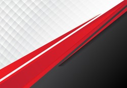 template corporate concept red black grey and white contrast background. Vector graphic design illustration, copy space