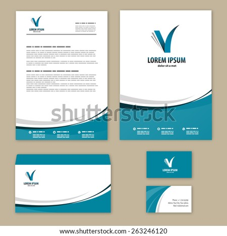 Corporate Business Letterhead Template Vector Design Illustrati