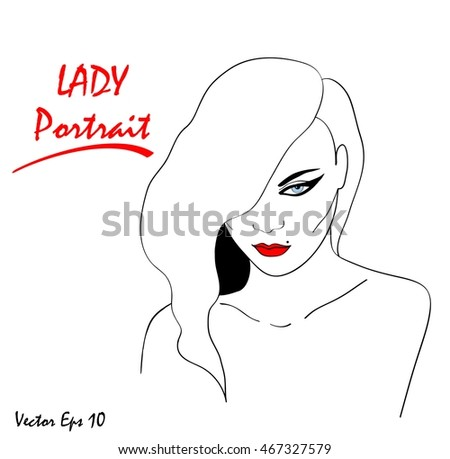 template cosmetic card hand drawn illustration red lipstick