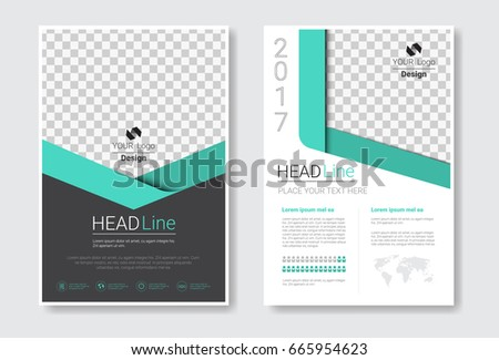 Template Design Brochure Set, Annual Report, Magazine, Poster, Corporate Presentation Collection, Portfolio, Flyer With Copy Space Vector Illustration #665954623
