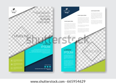 Template Design Brochure Set, Annual Report, Magazine, Poster, Corporate Presentation Collection, Portfolio, Flyer With Copy Space Vector Illustration #665954629