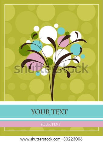 Template design for greeting card