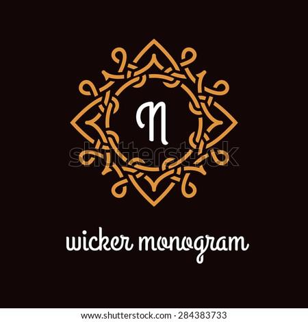 template design for monogram