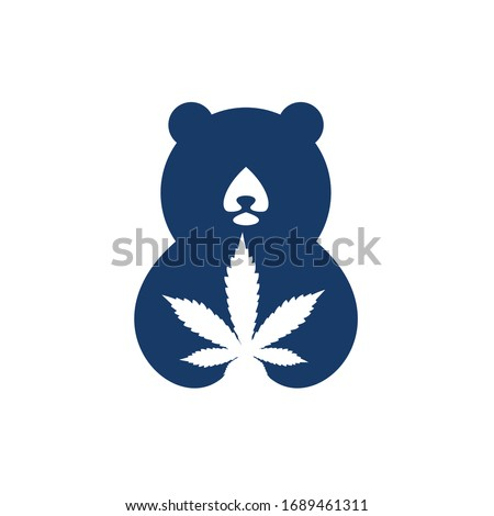 template design logo bear with