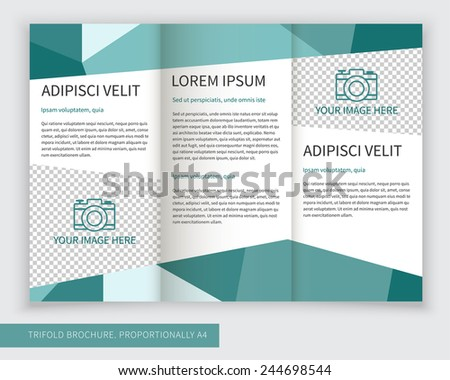 Abstract Green Trifold Template Brochure Design  Download Free