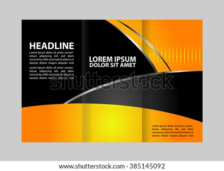 Free Tri Fold Brochure Vector Template Download Free Vector Art - Template for trifold brochure