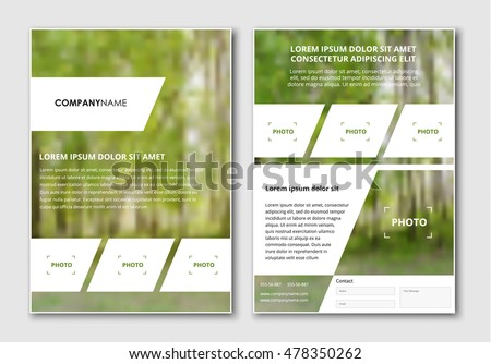 template flyer  brochure  with