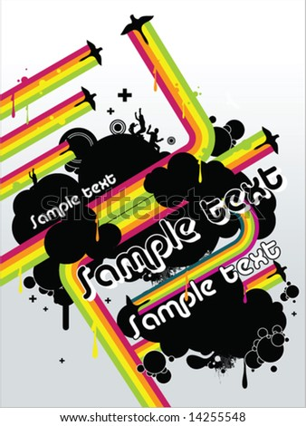 Template Flyer for Party, in vector - stock vector