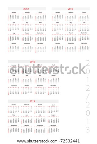Template foe calendar 2012-2013 Сток-фото ©