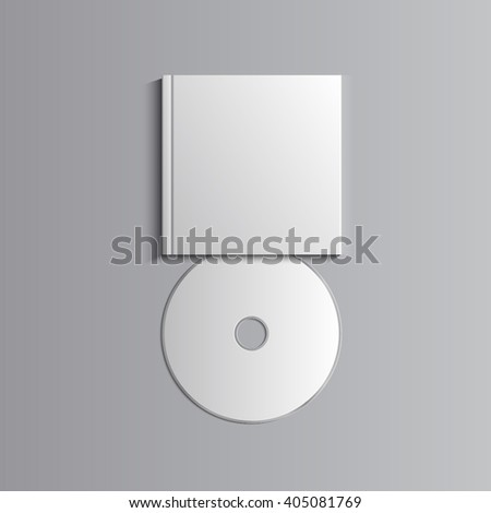 Template for advertising, branding and corporate identity. Compact disk with cover. Blank mockup for design. Vector white object. EPS 10