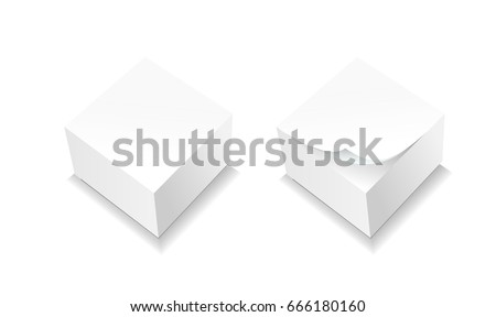 Template for advertising, branding and corporate identity. Realistic spiral note paper. Blank mock up for design.