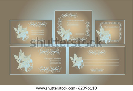 Brown vintage art deco wedding invitation vector template download template for business artworks stopboris Choice Image