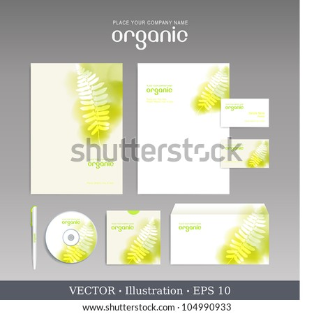 Template for Business artworks.  Nature. Vector