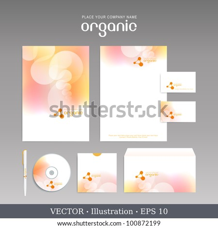 Template for Business artworks. Vector Bio style.