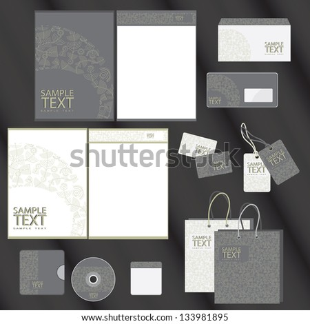 Template for Business artworks Vector illustration