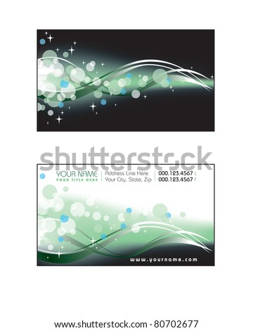Template for Business Card. Eps10 Format. Illustration.