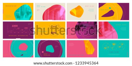 Template for business presentations. Multicolored and Abstract elements on a different background. Presentation slide, flyer leaflet, brochure cover, report, marketing and banner