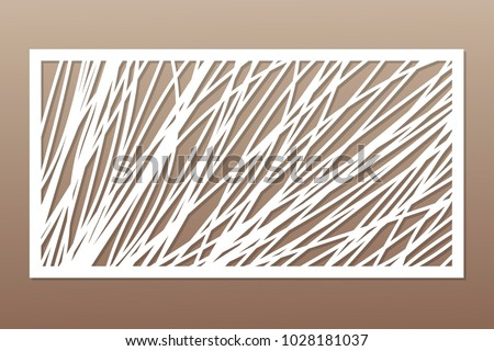template for cutting abstract