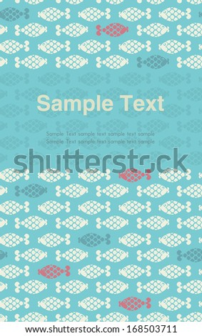 Template for design with ornament and place for your text. Decorative graphic text background