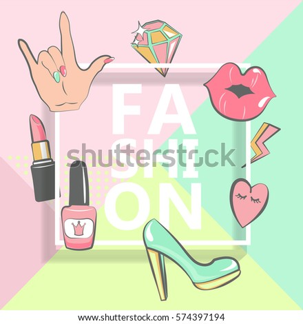 template for fashion with