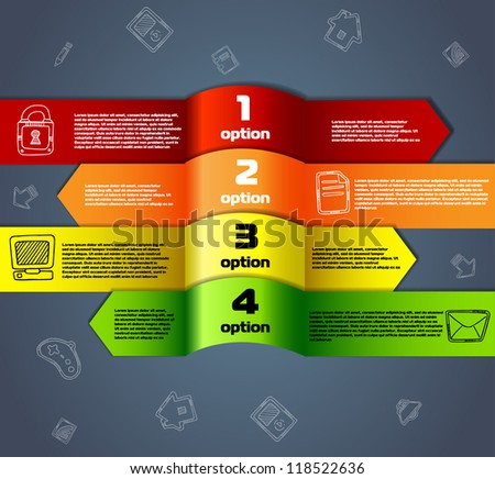 Template for infographics numbered line banners website