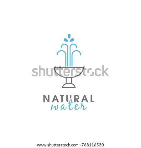 Template for logo water fountain.