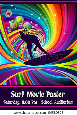 template for surf movie poster