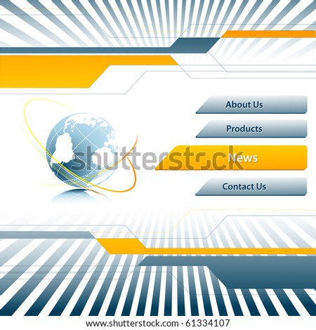 template for web site. Elements for design