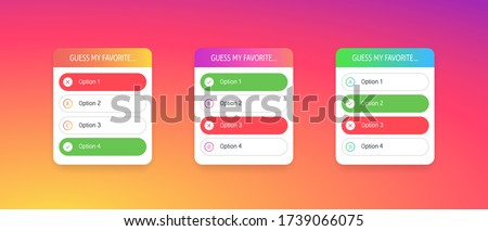 Template forms on a colorful gradient background. Blogging. Social media concept. Vector illustration. EPS 10