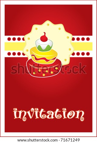 Template Frame Design For Birthday Party Invitation Car