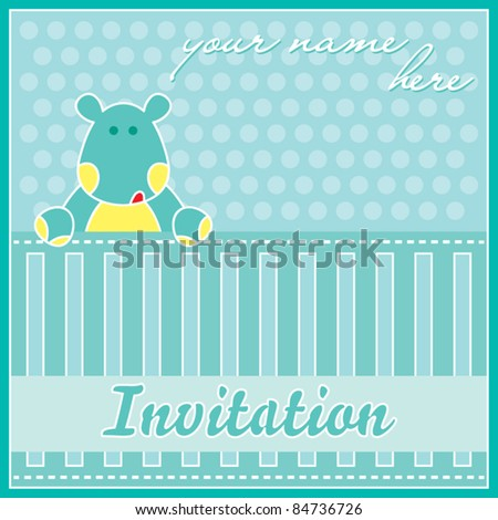 Template Frame Design For Birthday Party, Invitation Ca