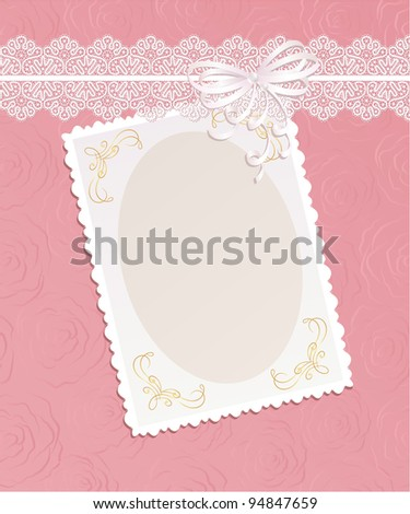 Template  frame design  for card..