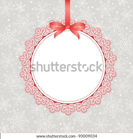 Template frame design for christmas greeting card