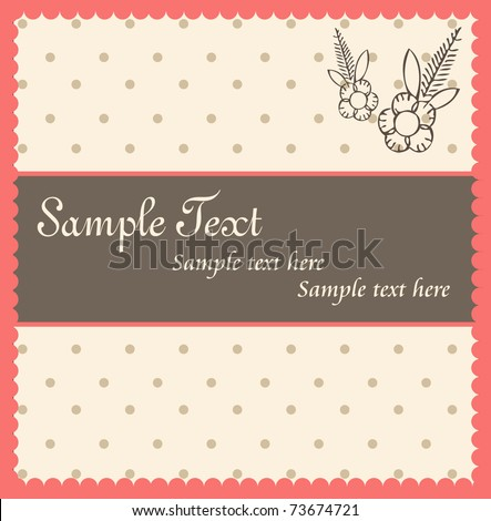 Template frame design for greeting card or invitation - stock vector