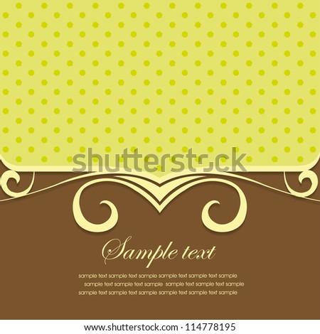 Template frame design for greeting card. vector illustration - stock vector