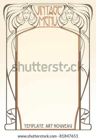 Template frame design for menu