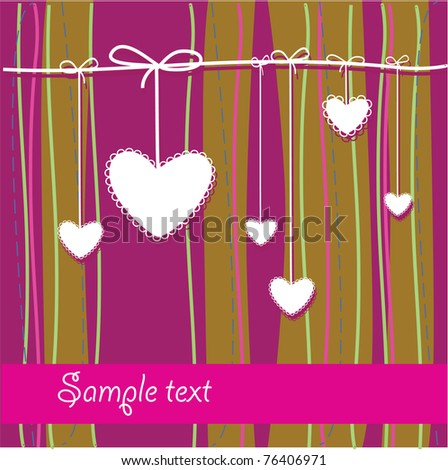 Template Frame for congratulations. Insert your text. - stock vector