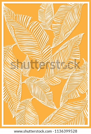 Template. Geometrical drawing. Decorative elements of decorative elements. Decorative card. A palm pattern. Vector illustration .. card. Vector illustration. EPS 10