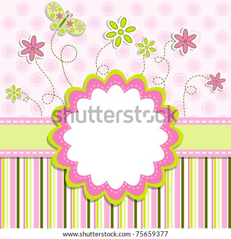 Template greeting card vector illustration eps10